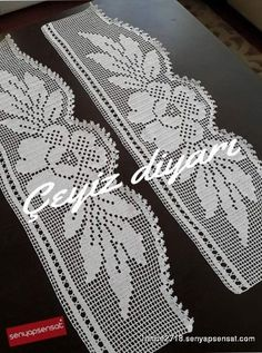 This Pin was discovered by ΠΟΠ Crochet Boarders, Crochet Lace Edging, Cotton Crochet, Crochet Doilies, Lace Patterns, Crochet Patterns, Filet Crochet Charts, Crochet Curtains, Heart Crafts