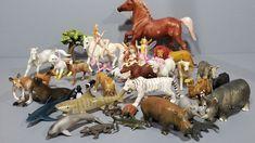Schleich Safari etc Lot of +36 animals people horses farm figures etc | eBay