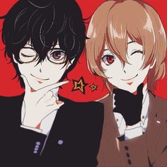 My beautiful boys. Persona 3 Portable, Persona 5 Anime, Goro Akechi, Ren Amamiya, Respect People, Akira Kurusu, Light Of My Life, Beautiful Boys, Anime Guys
