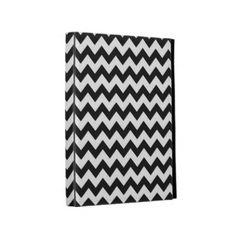 Black Chevron Stripe iPad Cases