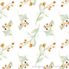branch watercolor pattern