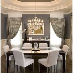 Most Design Ideas Beautiful White Dining Room Pictures, And Inspiration – Modern House Transitional Dining Room, Dining Room Contemporary, Contemporary Dining Room, Grey Dining Room, Interior, Room Design, Home Decor, Dining Room Decor, White Dining Room