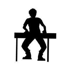 11*8.5CM Rock Band Keyboardist Silhouette Music Car Sticker Decals Fun Keyboardist Player Car Stickers C2-0025