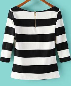 Camiseta+cuello+redondo+rayas-blanco+y+negro+14.26