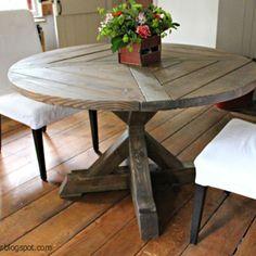 X-Base Circular Dining Table