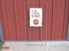 VINTAGE THINGS GO BETTER WITH COKE COCA COLA SODA AM SIGN STORE BOTTLE DISPLAY  #CocaCola