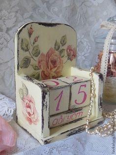 """По мотивам работы Вечный календарь """"Шебби Розы"""" для Ирины - бежевый,розовый"""