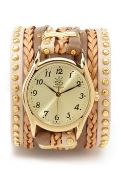 neutral gold tone watch