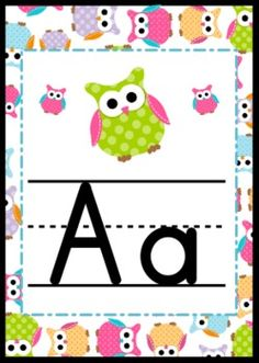 Adorable Owl Themed Alphabet Letter Posters - Brighten your classroom with these precious owl-themed alphabet posters including all letters from A to Z.