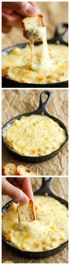 Crab and Artichoke Dip #recipe #crab
