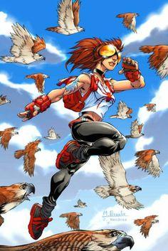 Araña -é uma personagem do Universo Marvel,uma heroína ligada ao Homem-AranhaAnya é recrutada por um clã místico chamado a sociedade da aranha para agir como seu agente, um caçador. Um ritual é executado nela dando-lhe uma tatuagem de aranha que lhe dá o dote com poderes de aranha. .