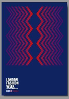 Richard Robinson poster for London Fasion Week 2013