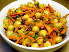 Chickpea, Carrot, and Currant Salad : Sometimes simple is best, like in our chickpea, carrot, and currant salad. With just a few ingredients tossed together, you've got a filling and nutritious lunch.