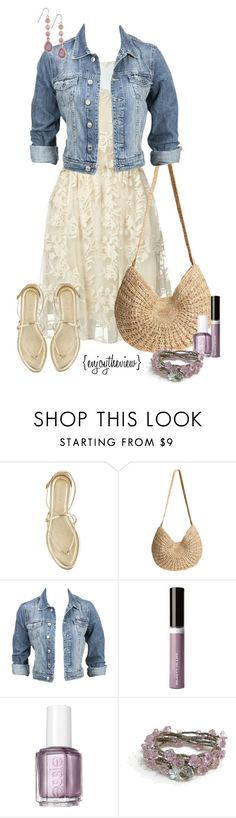"""""""lavender & cream casual"""" by enjoytheview ❤ liked on Polyvore featuring Alice + Olivia, J.Crew, Flora Bella, Modström, Beauty Is Life, Essie, Shabby Chic, 1928, lace and lavender"""