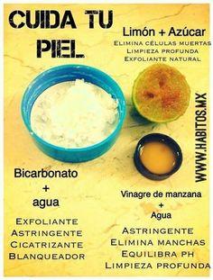 Grandiosos cuidados para la piel de tu cara, con ingredientes de uso cotidiano.