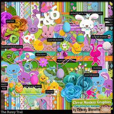 The Bunny Trail by Clever Monkey Graphics - Digital scrapbooking kits available through Oscraps, GingerScraps, or MyMemories