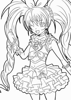 pretty cure coloring pages google search see more cure melody