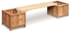 Standard Planter Bench - two square planters and bench