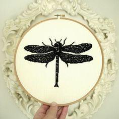 Libellule dragonfly cross stitch