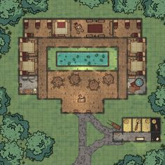 Guild HQ/Hall - 35 by 35 - My second map and despite multiple crashes i'm pleased! Fantasy Rpg Games, Fantasy City, Fantasy Map, Minecraft Rp, Cartographers Guild, Character Creation, Character Design, Scale Map, Building Map