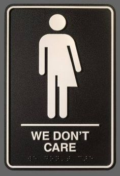 """""""Eventually we will experience a generation of people who don't care about where people go to the bathroom,"""" writes artist Peregrine Honig, who designed the new gender-neutral restroom signs for Durham's 21c Museum Hotel."""
