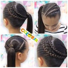 teenage hairstyles for dance Gift Ideas Young Girls Hairstyles, Princess Hairstyles, Natural Hairstyles For Kids, Trendy Hairstyles, Braided Hairstyles, Natural Hair Styles, Long Hair Styles, Popular Hairstyles, Little Girl Hairdos