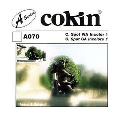 Cokin - A Series Incolor 1 66mm x 72mm Wide-Angle Center Spot Lens Filter - Clear/Gray, CA070