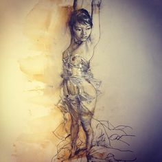 Figure study in preparation for a new painting