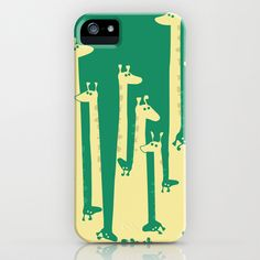 Such A Great Height iPhone Case by Budi Satria Kwan - $35.00 Don't have an i phone but love the giraffes:)