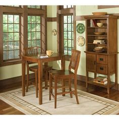 Home Furnishings - Cottage Oak Arts & Crafts Bistro Table & Stools by Home Styles   KitchenSource.com #kitchensource #pinterest #followerfind