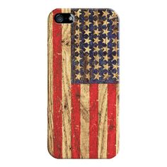 iPhone 6 Plus/6/5/5s/5c Case - Vintage Patriotic American Flag on Old... (41,245 KRW) ❤ liked on Polyvore