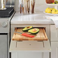 Organize Your Kitchen | Hidden Cutting Board | SouthernLiving.com