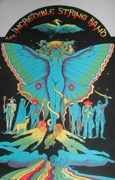☮ American Hippie Psychedelic Music Art ~ Incredible String Band poster