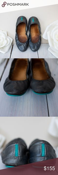 Metallic Pewter Tieks Still in good condition. Minor flaws seen in the images from normal wear. I have many pairs of Tieks and I'm Poshing the ones that I no longer use. Offers Welcome! Tieks Shoes Flats & Loafers