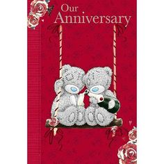 Our Anniversary Me to You Bear Card (A01MN090) : Me to You Online - The Tatty Teddy Superstore.