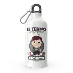 Termo - El termo del mejor crossfitter, encuentra este producto en nuestra tienda online y personalízalo con un nombre. Water Bottle, Drinks, Carton Box, Store, Crates, Drinking, Beverages, Water Bottles, Drink