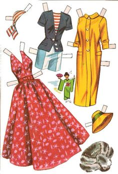 Airline Stewardess Paper Doll