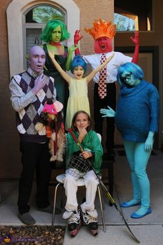Cassidy: My husband, children and I dressed up as all of the characters from Inside Out. We have Joy, Sadness, Anger, Disgust, and Fear. We also have Riley, the girl whose...