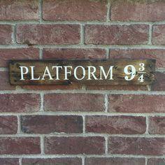 Platform 9 3/4 sign Inspired by Harry Potter by OzarkFarmhouse