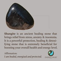 Said to be around 2 billion years old, Shungite is a very powerful, ancient healing stone that detoxifies your body by absorbing and eliminating any negative or health hazardous energies. A Shungite Stone can be used for EMF protection, purification of the body, general healing and well-being and much more.