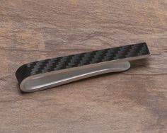 Carbon Fiber Tie Clip by KevinCossDesigns on Etsy, $15.00