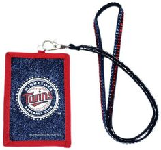 Minnesota Twins Beaded Lanyard Wallet #MinnesotaTwins