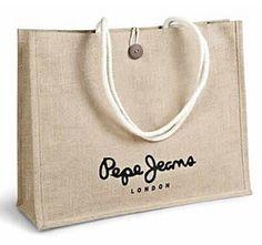 Tote Bag  Jute Canvas Size - 48 x 31 x 12.5 cm MOQ 1,000 pc