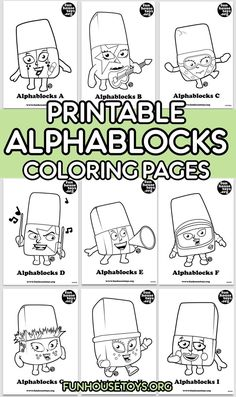 The Alphablocks are living letters who discover that whenever they hold hands and make a word, something magical happens. Alphabet Coloring Pages, Free Printable Coloring Pages, Coloring For Kids, Coloring Pages For Kids, Coloring Sheets, Printable Alphabet Letters, Alphabet Phonics, Preschool Printables, Kids Prints
