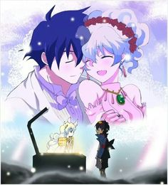 Super cute anime couple: Simon and Nia from Gurren Laggan (':