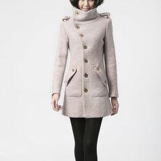 Military Cape Coat Pink