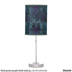 Dark green purple batik style pineapple pattern table lamp Batik Pattern, Table Lamp Shades, Pineapple Pattern, Incandescent Light Bulb, Home Decor Online, Green Accents, Trim Color, Watercolor Pattern, Rice Paper