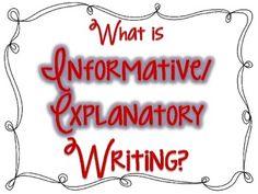 Informative/Explanatory Writing Posters FREEBIE - Jodi Southard - TeachersPayTeachers.com