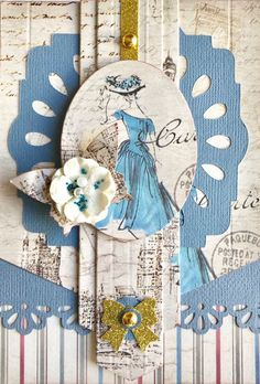 Gorgeous Greeting Card by our sensational Vanessa Bester using FabScraps C102 Will Travel For Food collection.