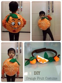 I made this for YEP my boy// Pre-N class// Theme: #Fruit & Veggie #costume kids